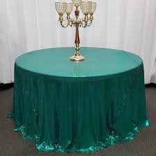 Round Elastic Tablecloth Sequin Mini Glitz Tablecloths