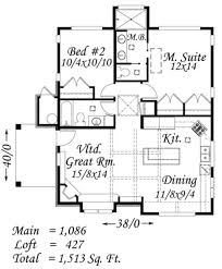 tudor style house plan 2 beds 2 00 baths 1513 sq ft plan 509 25