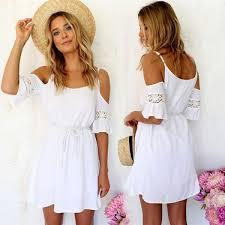 off shoulder summer dress on luulla