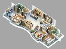 house with 4 bedrooms 4 bedroom flat house plans 3023