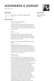 Technical Support Resume Sample by Technical Support Analyst Resume Samples Visualcv Resume Samples