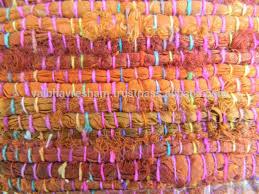 sari silk ribbon recycled sari silk ribbon coral shaded rugs buy coral silk