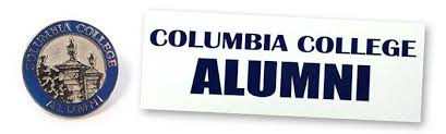 alumni pin lapel pin and window cling form columbia college