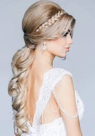 side swept ponytail wedding hairstyles long hair
