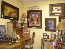 decoration western furniture and decor room with framed art on