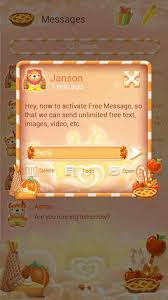 free go sms thanksgiving theme for android