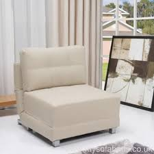 Fold Out Armchair Montpellier Chair Bed Cream Faux Leather Montpellier Occasional