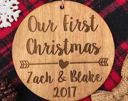 our christmas living together ornament personalized