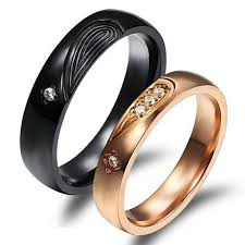 black wedding rings his and hers customized black gold titanium heart wedding rings set for 2