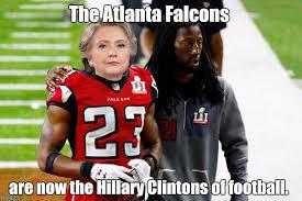 Atlanta Falcons Memes - robert alford and hillary clinton both played for losing teams