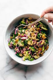 clean broccoli salad with almond dressing recipe