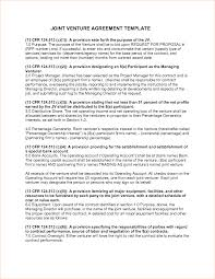 4 joint venture agreement template outline templates