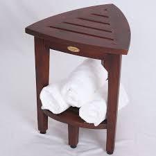 Wood Shower Stool Amazon Com New Oasis Fully Assembled Teak Corner Shower Bench