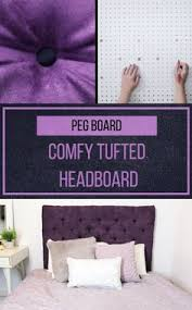 Faux Headboard Ideas by Diy Cheap Tufted Headboard Made With A Piece Of 10 Styrofoam
