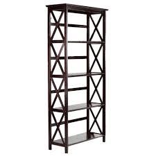 amazon com montego 4 shelf bookcase high espresso kitchen u0026 dining