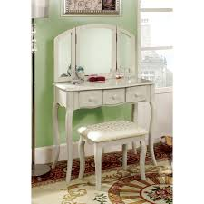 28 white vanity set for bedroom furniture of america