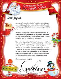 santa claus letters official pole mail personalized letters from santa claus
