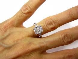 radiant cut engagement rings 3 07ct estate radiant cut 3 engagement wedding