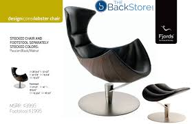 Lounge Chair Dimensions Ergonomics Fjords Lobster Chair Recliner And Footstool In Passion Black