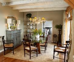 north carolina mountain home shabby chic style dining room