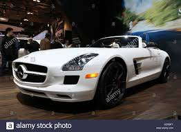 white mercedes convertible white sports convertible car mercedes sls amg roadster stock
