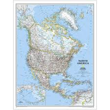 North America Continent Map by Continent Maps Wall Maps Maps Dura Globes