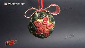 how to make paper quilling christmas ball diy christmas