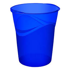 poubelles de bureau corbeille de bureau cep poubelle à papier bleu électrique