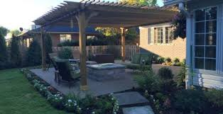 Backyard Entertaining Landscape Ideas Outdoor Dining Covered Patio Kits Pergola Depot