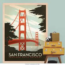 Travel Decor by San Francisco Golden Gate Bridge Wall Decal Us Travel Decor