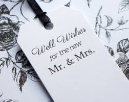 wedding wishes for the and groom wedding wishes tags personalized tag with gold ribbon wishing