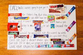 what to get your for s day fathers day candy poster