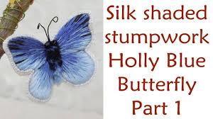 beautiful decorative silk shaded stumpwork butterfly part 1