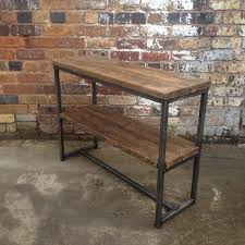 Wooden Console Table Furniture Reclaimed Industrial Console Table Modish Living