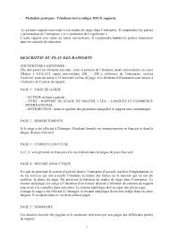 rapport de stage 3eme cuisine comment rédiger un rapport de diligence raisonnable fiche pratique