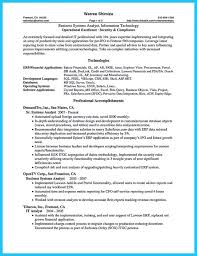 systems analyst resume entry level business analyst resume