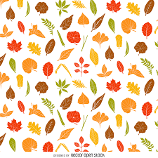 autumn leaves pattern vector download