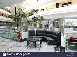 lobby interior at luxury hotel tenerife island spain stock photo