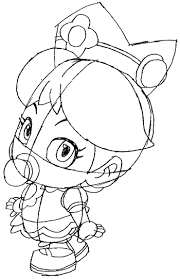 draw baby princess daisy wii mario kart 2 2