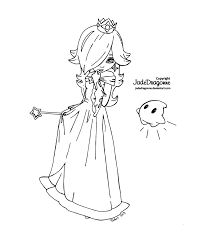 princess rosalina from mario lineart by jadedragonne on