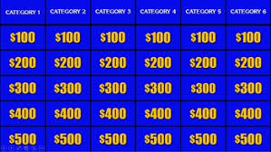 Jeopardy Templates jeopardy template review powerpoint by connor bradley tpt