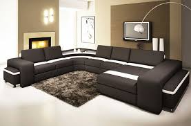 wohnzimmer wohnlandschaft wohnlandschaft leder in zwei farbkombinationen mit modernem design
