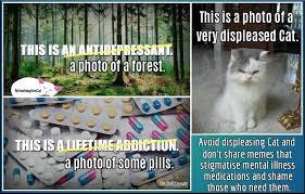 Depressed Cat Meme - cat account defaces popular meme to make point about depression