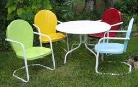 metal patio chairs and table retro metal lawn chairs vintage for children thedigitalhandshake