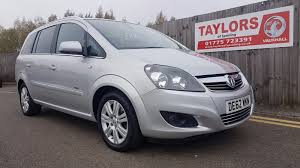 vauxhall zafira 2008 used vauxhall zafira cars for sale in peterborough cambridgeshire
