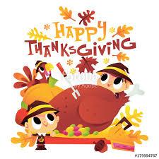 pilgrim around turkey dinner with happy thanksgiving