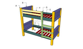 Woodworking Plans For Bunk Beds Free by 8 Free Bunk Bed Plans Free Bed Frame Plans How To Build A Bed