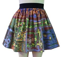 Map Of Hyrule Map Of Hyrule Skirt Princess Zelda Gets A Modern Makeover Technabob