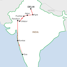 Jaipur India Map by Uncover India Delhi To Goa A 15 Day Group Tour In India