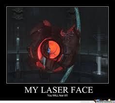 Laser Meme - fear my laser face by dark magician meme center